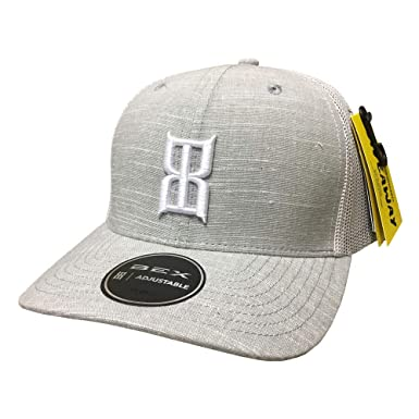 f63076ce97a Image Unavailable. Image not available for. Color  BEX White Gray Slub  Adjustable Snapback Hat