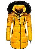 Marikoo Moonshine Abrigo Guateado Largo de Invierno para Mujer con Pelo XS-XXL
