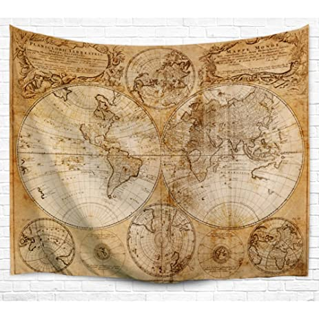 Amazon tapestries world map beach blanket picnic mat soft beach tapestries world map beach blanket picnic mat soft beach towels wall decorations curtains home ornamental tapestry gumiabroncs Image collections
