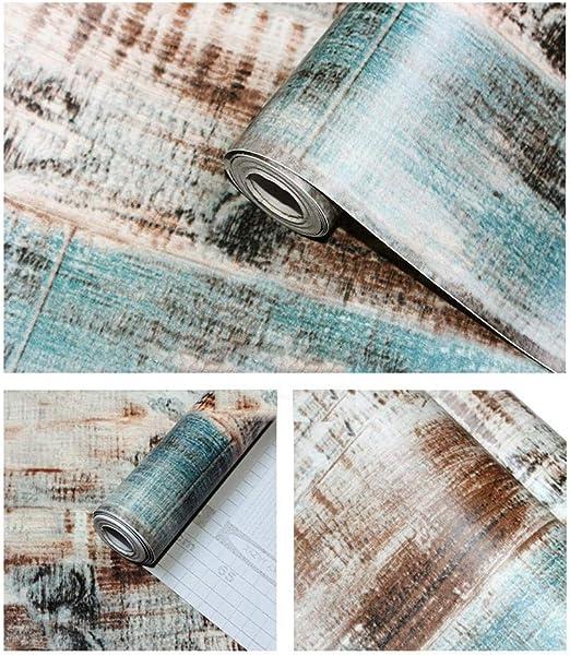 Cr/éation 230768 2307-68 Papier peint intiss/é Aspect vieilli Bleu dor/é 10,05 m x 0,53 m A.S
