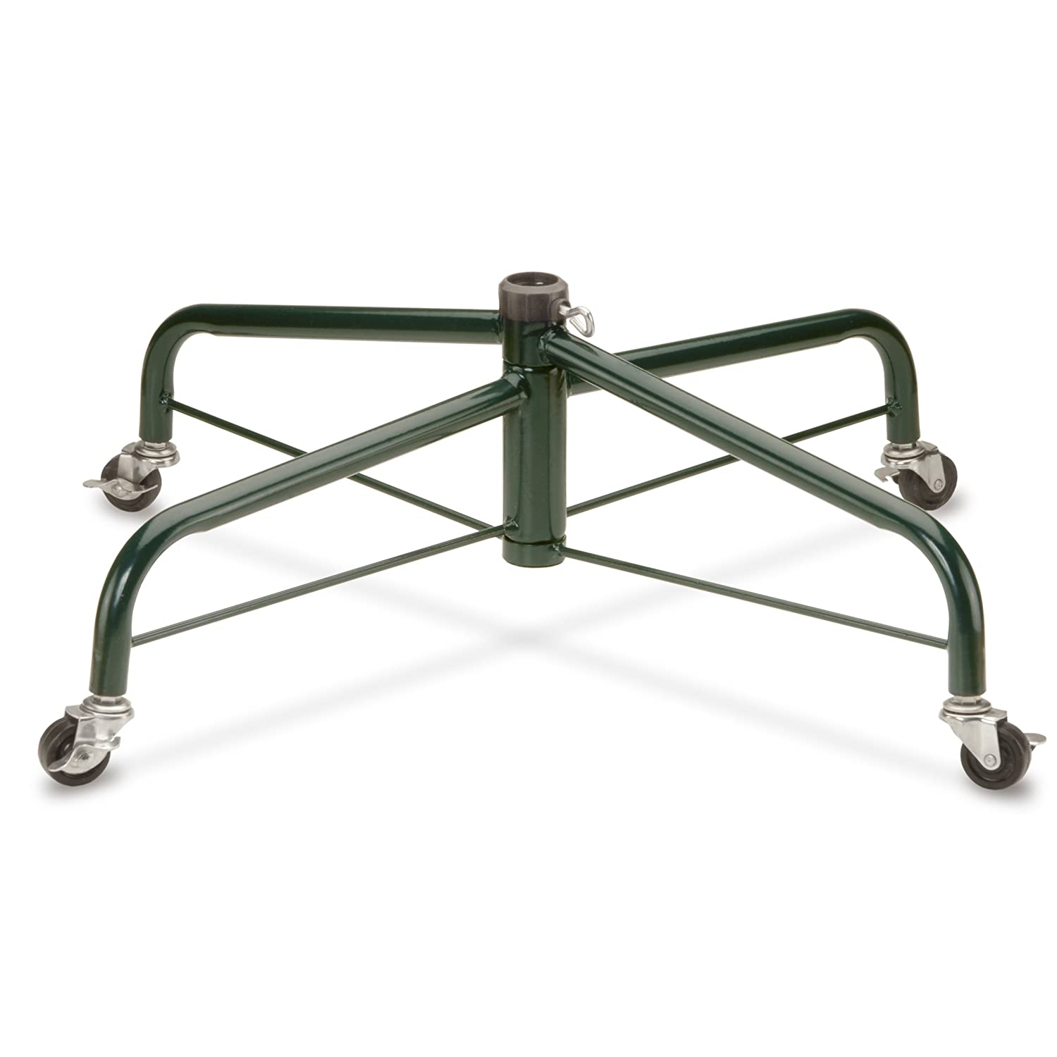 National Tree 28 Inch Folding Tree Stand with Rolling Wheels for 7.5 to 8 Foot Tree (FTS-28R-1)