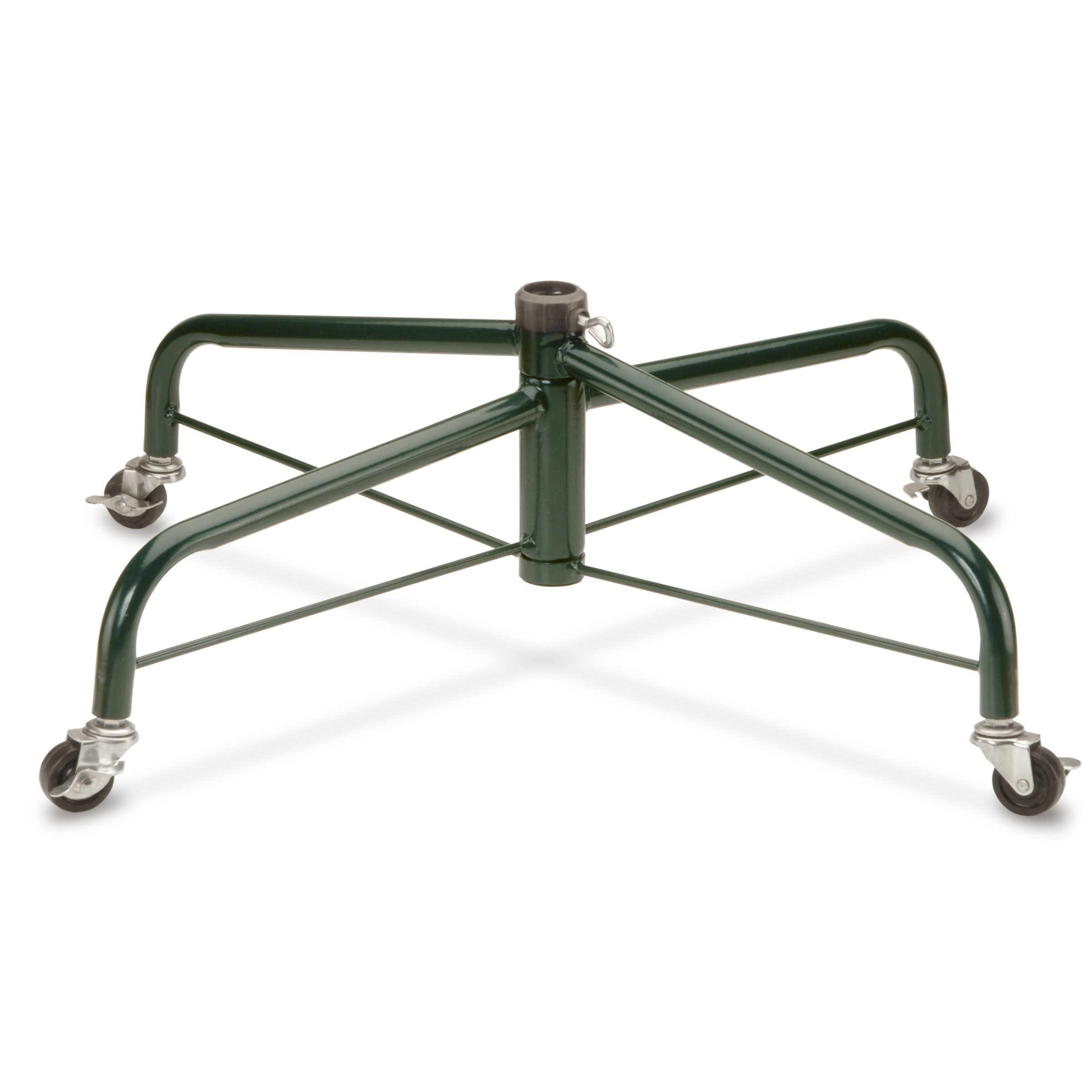 National Tree 32 Inch Folding Tree Stand with Rolling Wheels for 9 to 10 Foot Trees, Fits 1.25-Inch Pole (FTS-32R-1) by National Tree Company