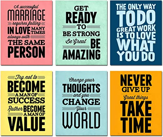 LESS IS MORE Frame Motivation Success Simple Inspire Poster Print Quote Life