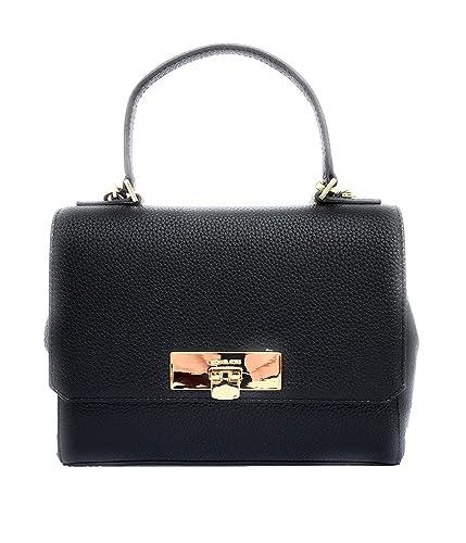 af0e8a3ac675 MICHAEL Michael Kors Callie Medium Leather Top Handle Satchel Handbag,  Black: Handbags: Amazon.com