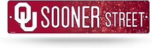 NCAA Oklahoma Sooners 16-Inch Plastic Street Sign Décor
