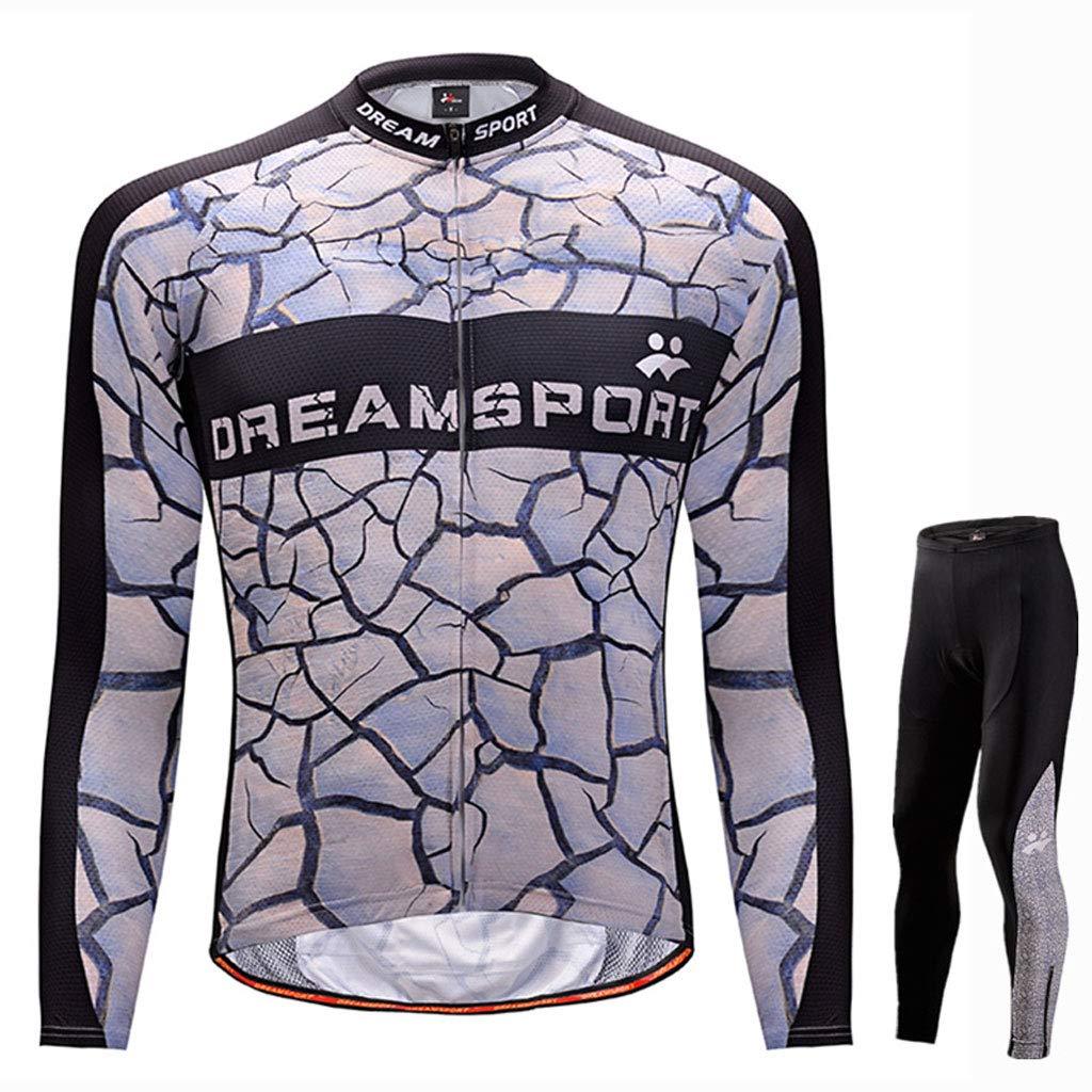 Lilongjiao Herbst und Winter Männer langärmelige Outdoor Sports Jersey Anzug Mountainbike Kleidung