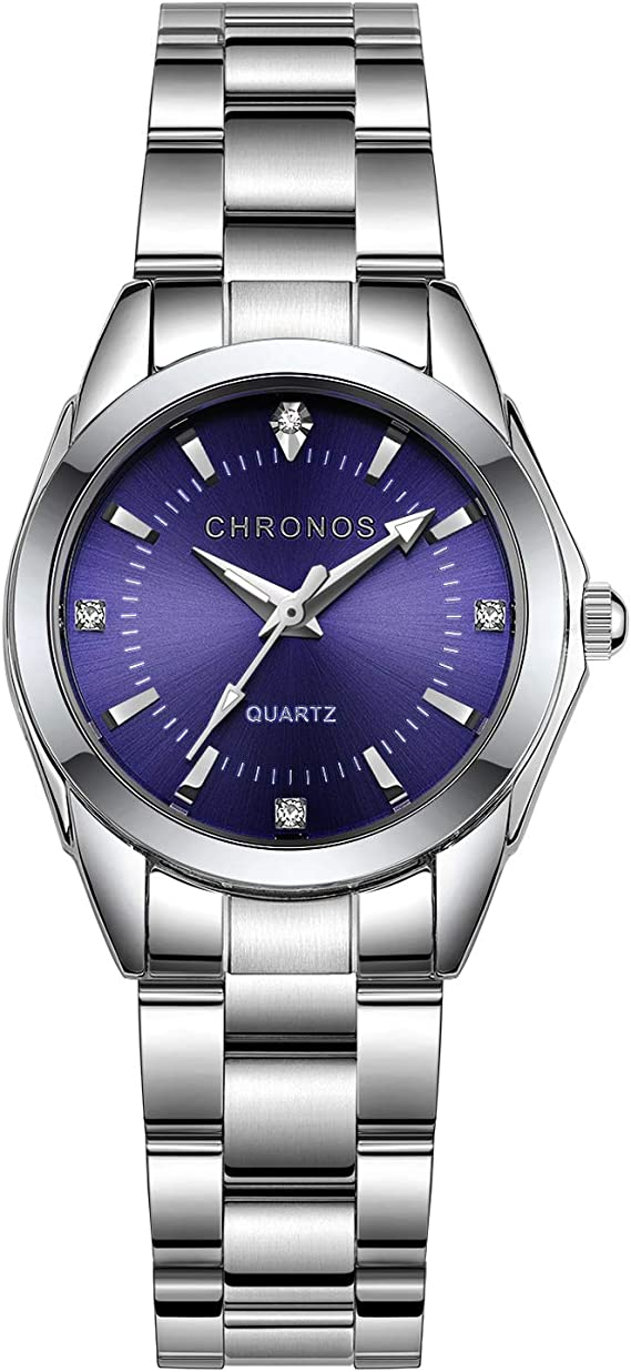 Amazon.com: Chronos - Reloj analógico de cuarzo para mujer y ...