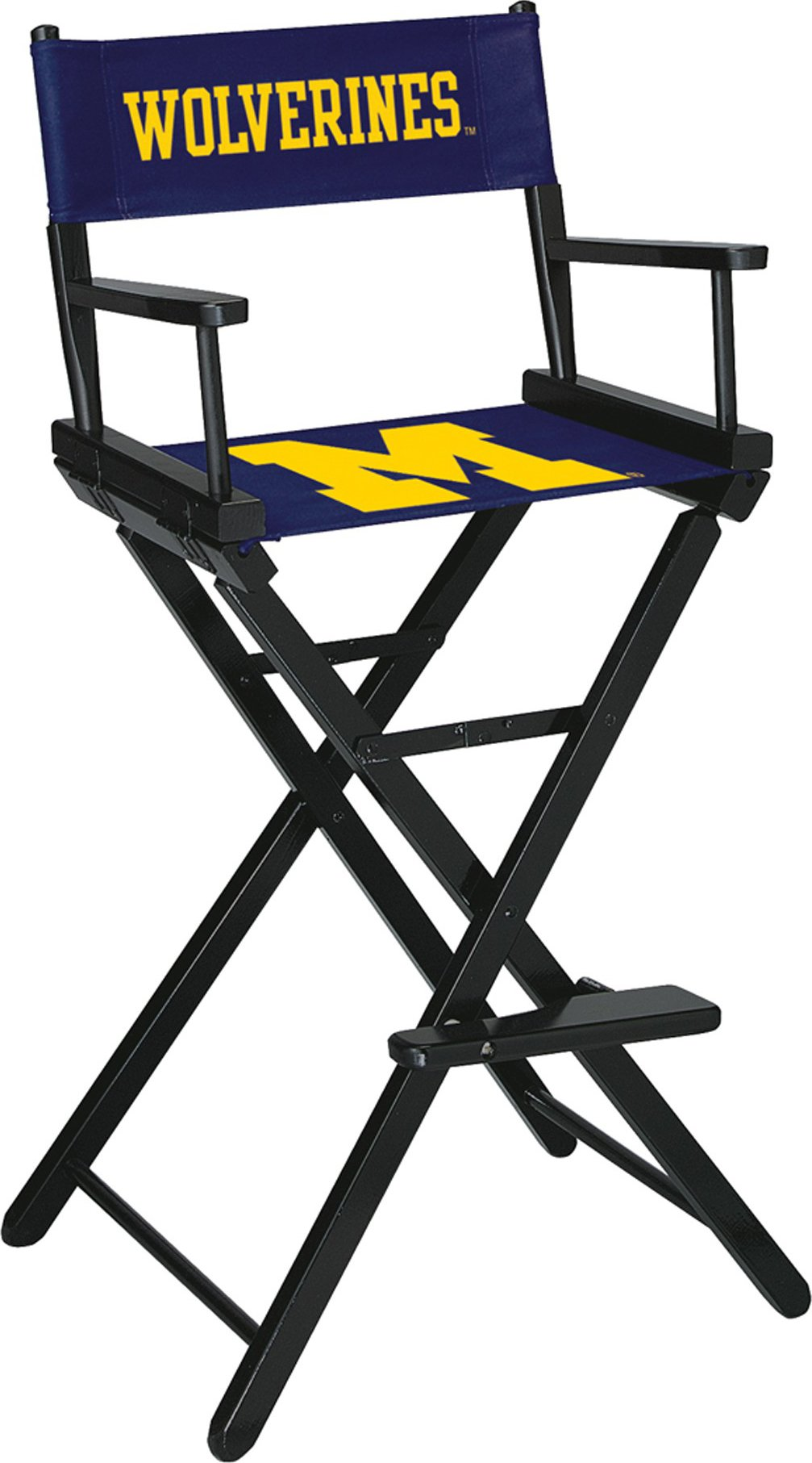 Imperial Officially Licensed NCAA Merchandise: Directors Chair (Tall, Bar Height), Michigan Wolverines