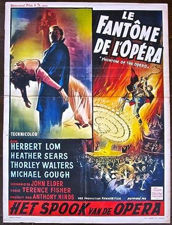Phantom Of The Opera Original 1962 Belgian Poster Herbert Lom Swinging Art At Amazon S Entertainment Collectibles Store