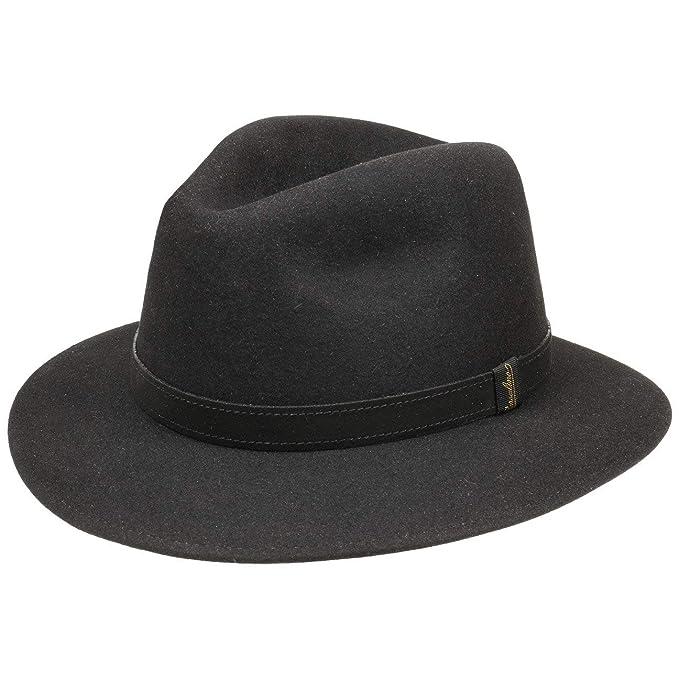 Borsalino Cappello Tascabile Nero Donna Uomo  6d332e555186