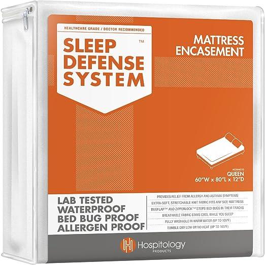 and ALLERGEN PROOF QUEEN 12 Mattress ZipCover DUST MITE Size: Queen 60 x 80 x 12deep ENCASEMENT compare price SLEEP SAFE BED BUG
