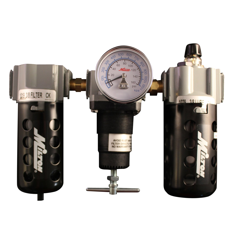 Milton 1102 1/2' Filter Regulator and Lubricator Trio