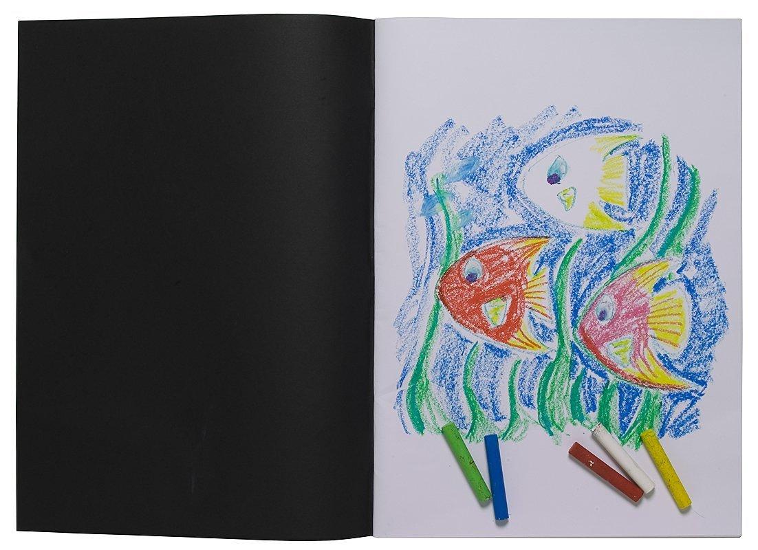 A3 Artist Sketch Book White Cartridge Paper Black Card Cover Art Pad Tiger