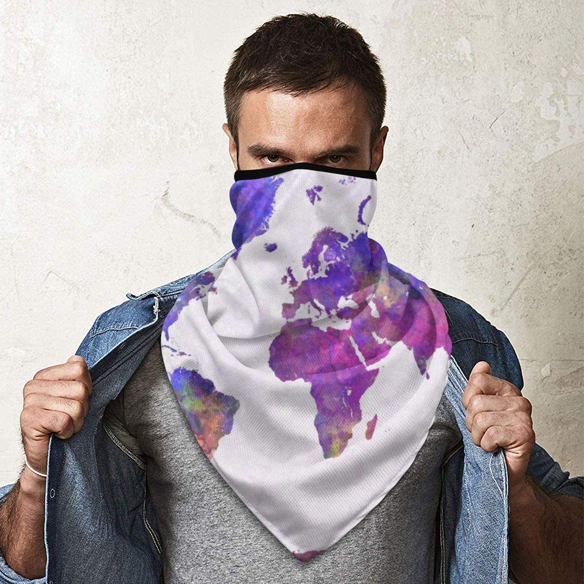 Neck Gaiter Balaclava Breathable Face Mask Windproof Wall Decal Neck Warmer Scarf Anti-Dust Marks