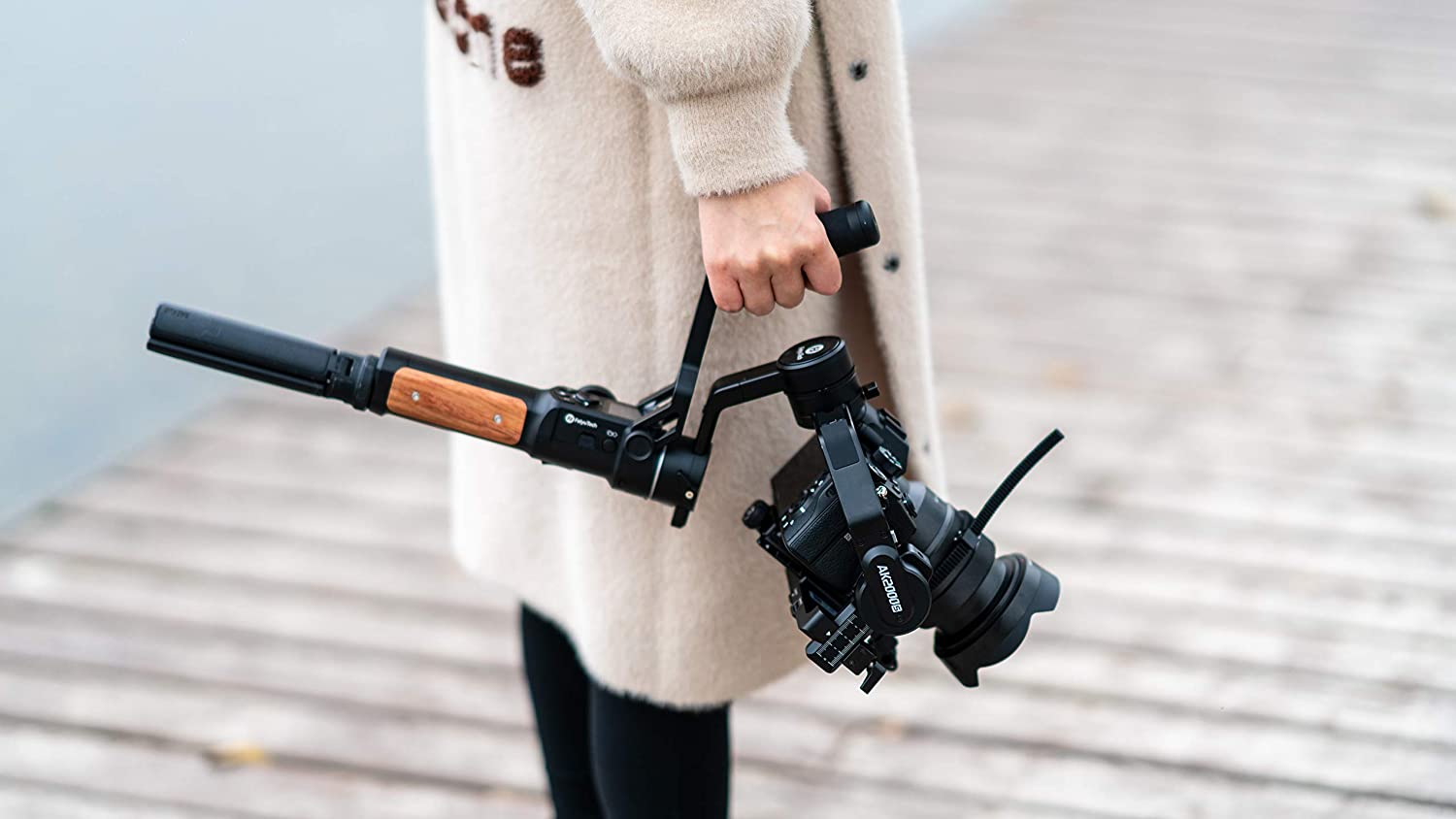 FeiyuTech AK2000S 3-Axis Handheld Gimbal Stabilizer for Mirrorless and DSLR Sony Canon Panasonic Nikon Fuji Cameras with Microphone /& Tripod MAX Payload Updates to 2.2kg//4.85 LB