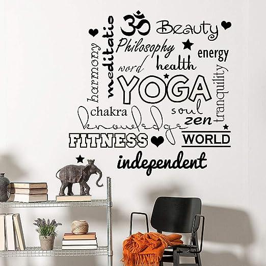 zhuziji Etiqueta de la Pared de Yoga Cita calcomanía Yogo ...