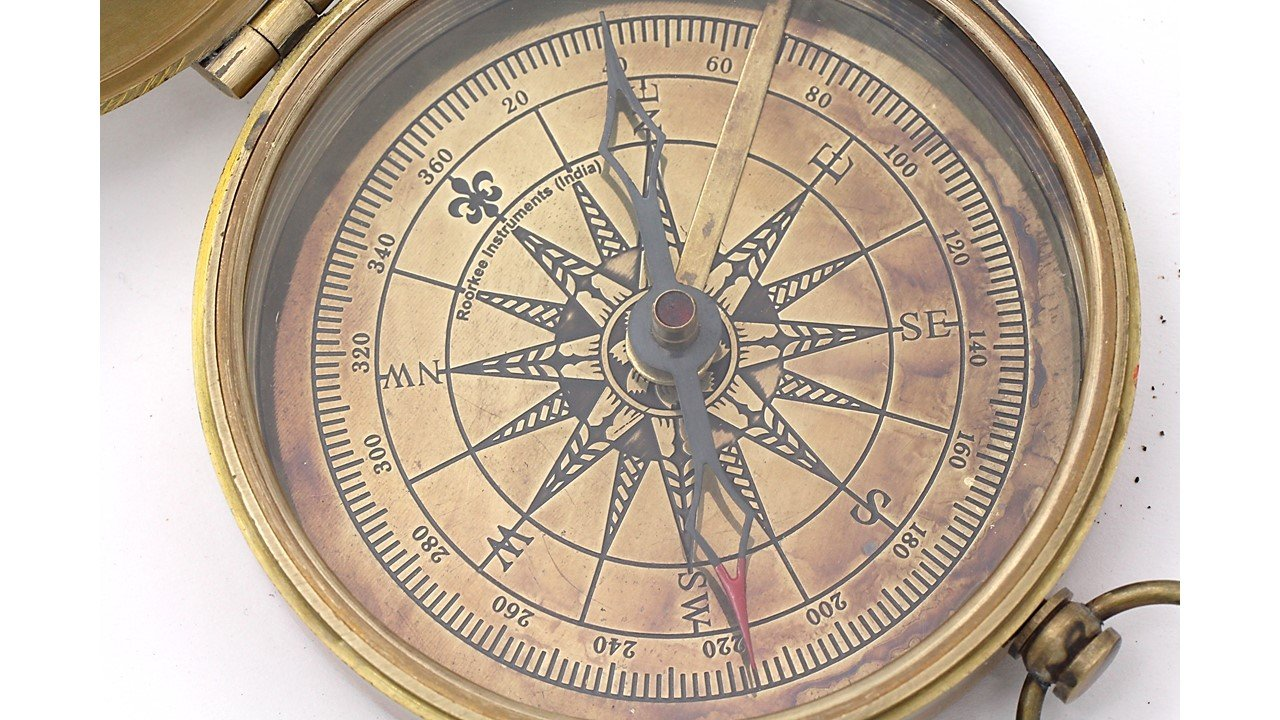 C Joybell C Love Across the Miles Romantic Engraved Brass Compass with Case