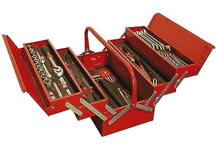 Caja de herramientas 5 compartimentos con 99 piezas y ...