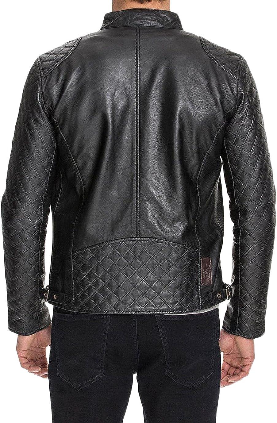 Kingdom Leather Men Leather Jacket New Soft Lambskin Slim Biker Bomber Coat X1359
