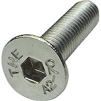 Aerzetix 20 bouten met conische kop, M5 x 20 mm, DIN7991, roestvrij staal A2, zeskant, C18283, 20 stuks