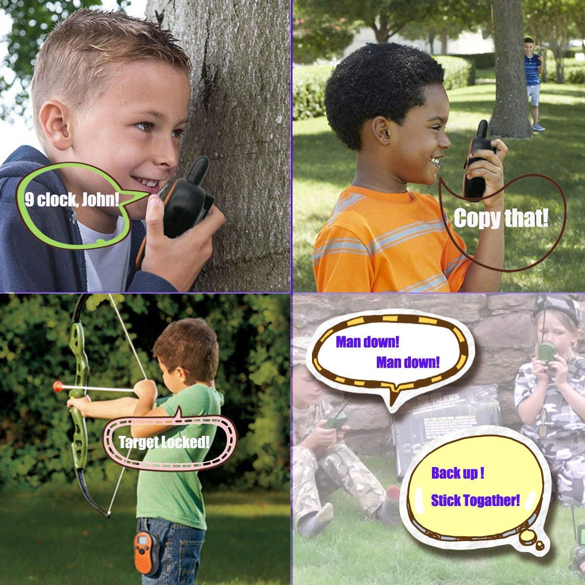 TiMi Tree Walkie Talkies for Kids Toddlers Two Way Radios Toy Voice Activated Long Range, Outdoor Exploration Gifts for Age 5 6 7 Year Old Boys Girls by TiMi Tree (Image #7)
