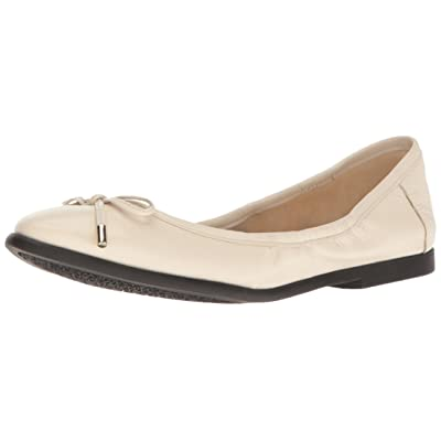 Nine West Women's Quinney Leather Ballet Flat, Off Off White, 6 M US | Flats