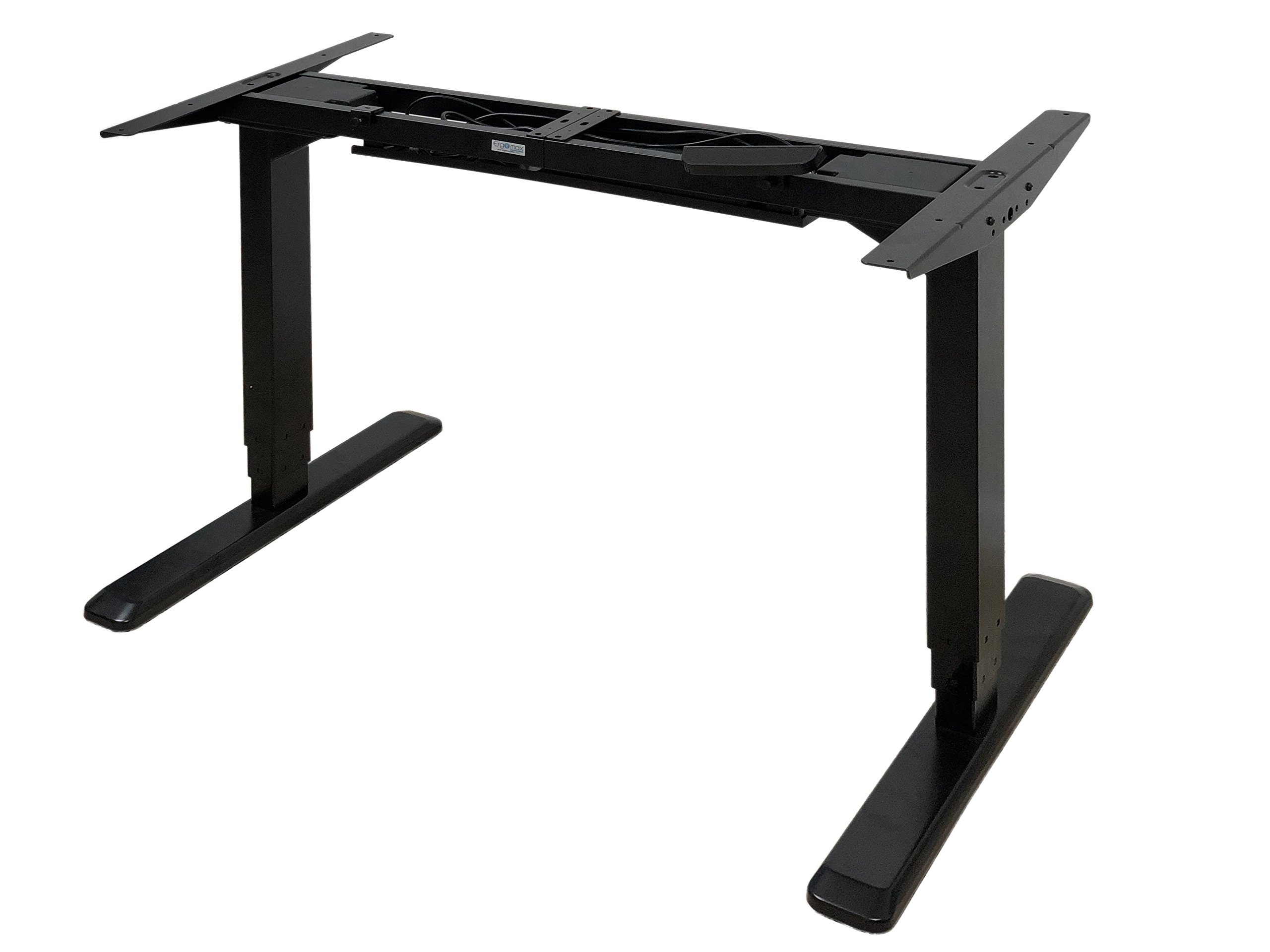 Canary Products ABC592BK Height Adjustable Electric Desk Frame w/Dual Motor, Tabletop Not Included, 50 Inch Max, Black