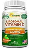 Liposomal Vitamin C - 1200mg Supplement - 180 Capsules - High Absorption Vit C Ascorbic Acid Pills - Liposome Encapsulated - Supports Immune System & Collagen Health - Non-GMO - 90 Servings