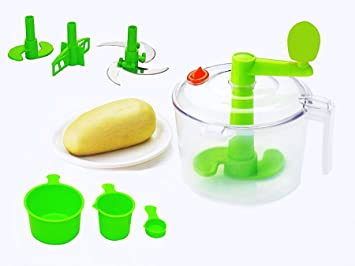Vivir® Advance Chop And Churn Vegetable Cutter And Dough Maker (Green) Food Processors at amazon