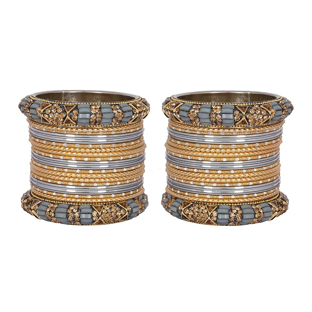 MUCH-MORE Marvelous 40 Pieces of Multicolor Bangles Set with Dashing Kade Indian Jewelry for Womens