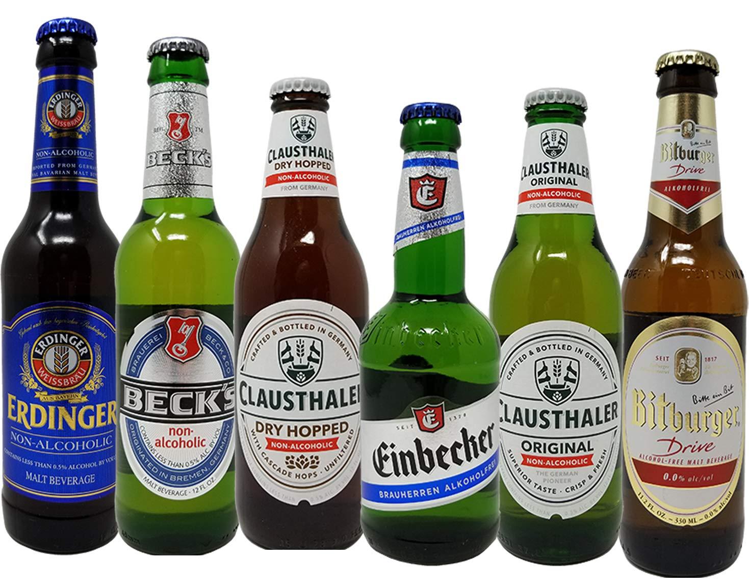 Paquete de 12 botellas de cristal de cerveza no alcohólica ...