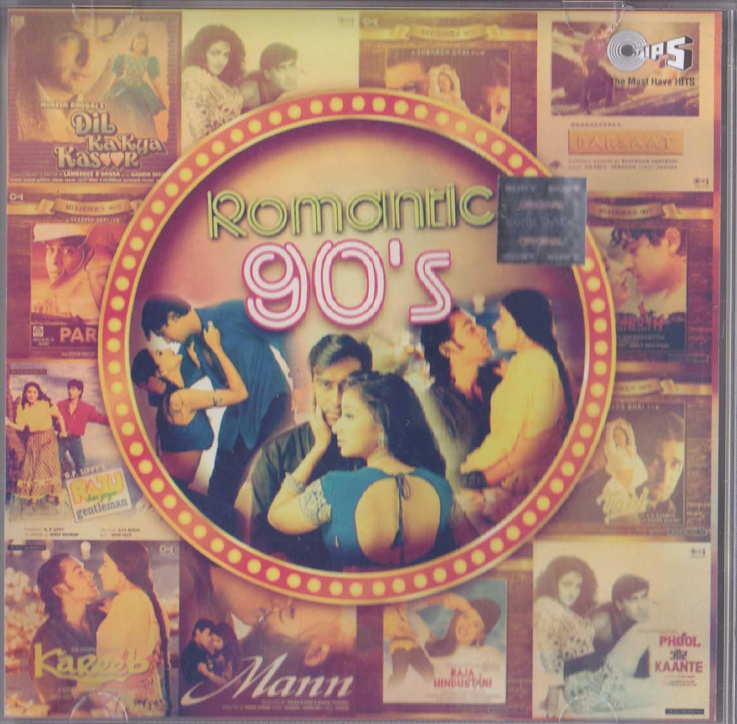Romantic 90's Classic Bollywood Filmy Songs Hindi Audio 2 CD