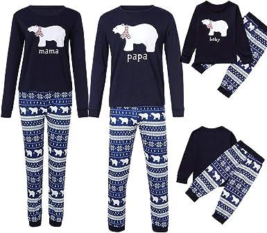 2019 Pijama de Navidad familiar, juego a rayas, pijama para ...