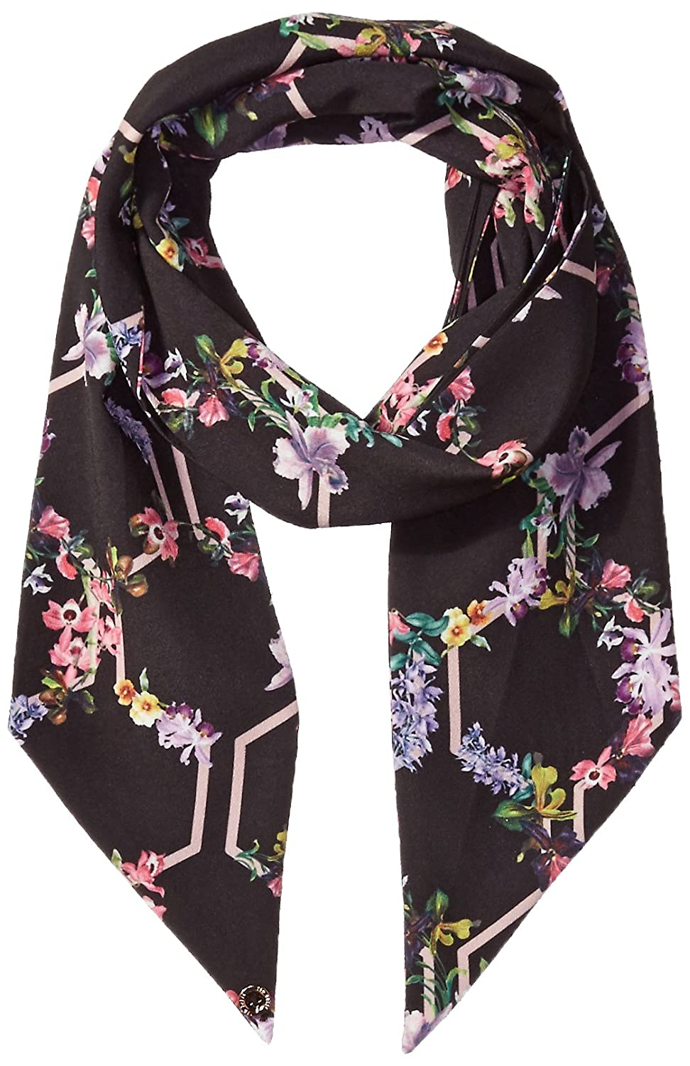 Ted Baker London Women's Larissa Lost Gardens Small Skinny Scarf, black,  One Size: Amazon.co.uk: Clothing