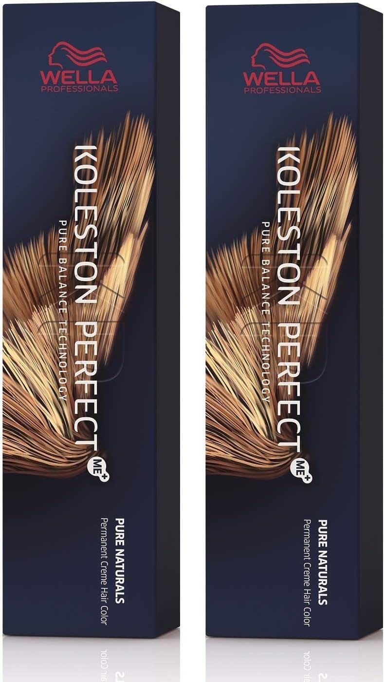 Wella Koleston Perfect Me+ KP - Tinte de coloración para el cabello, 2 unidades, color marrón claro intenso 5/77