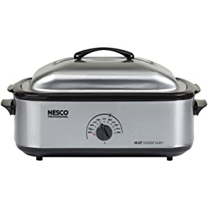 Nesco 18 Qt Roaster Stainless Steel Non-stick Oven