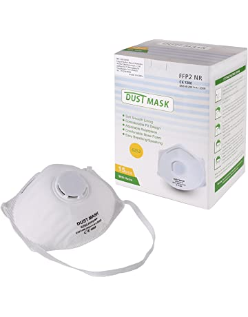 FIXKIT Set de 15pcs de Máscaras Desechables con Válvula de Respiración Anti-Contaminación Antipolvo Antivaho