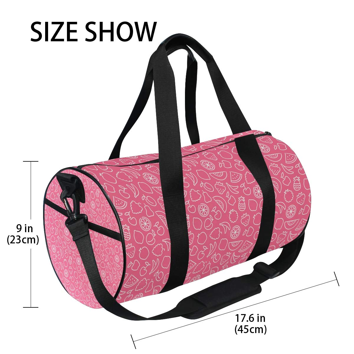 Waterproof Non-Slip Wearable Crossbody Bag fitness bag Shoulder Bag Sea Vegetable Flakes Picture
