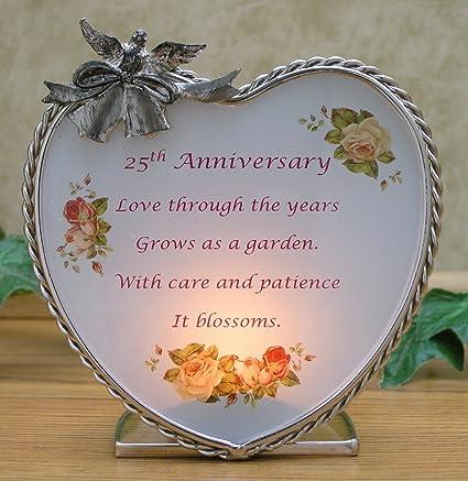 amazon com 25th wedding anniversary silver anniversary poem and