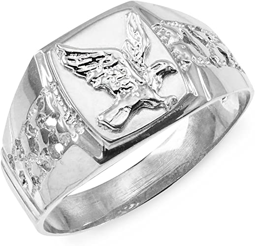 Anillo De Plata De Ley 925 Pulida Para Hombre Claddagh Gold Jewelry