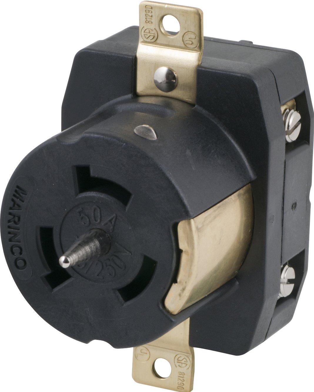Marinco CS6369 50 Amp, 125 Volt/250 Volt Receptacle