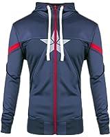Captain America Kapuzen Jacke Civil War Logo Blau