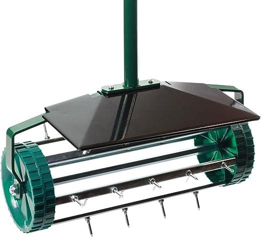 Aireador de césped con rodillo de alta calidad, escarificador: Amazon.es: Jardín