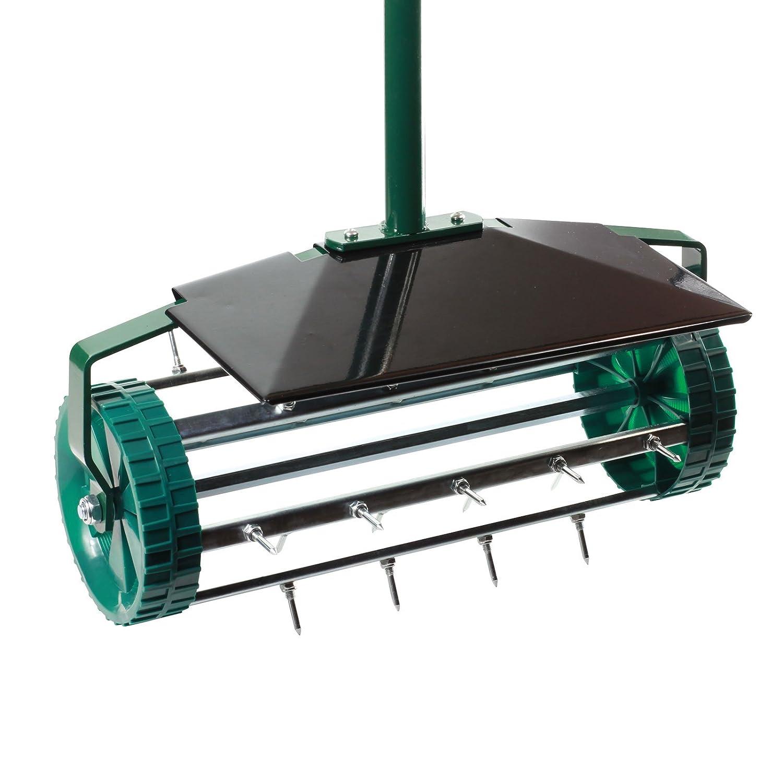 Lawn Aerator - Spiked High Quality grass roller - Scarifier GOLDBEARUK