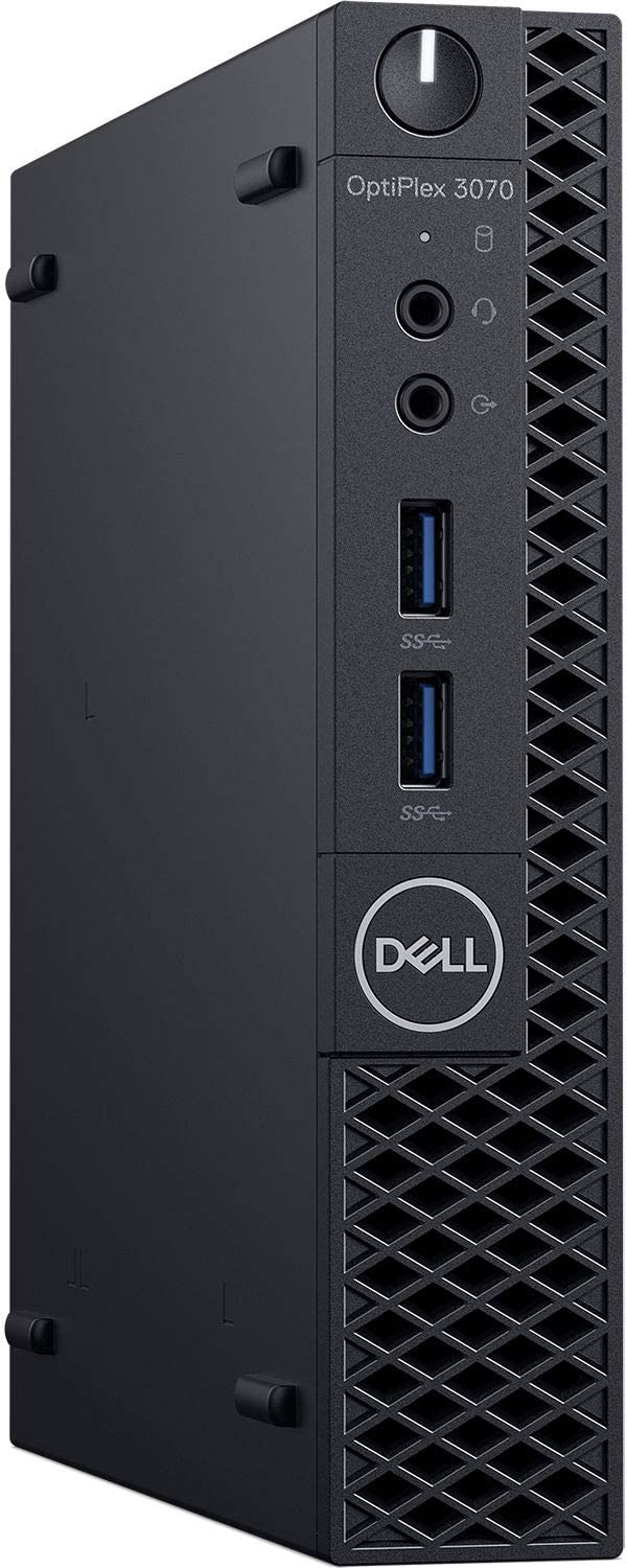 Dell Optiplex 3070 (Latest Model) Micro PC (MFF) Core i3-9100T (3.10Ghz Quad Core) 8GB DDR4 RAM 256GB SSD Wireless AC + Bluetooth Windows 10 Professional (Renewed)