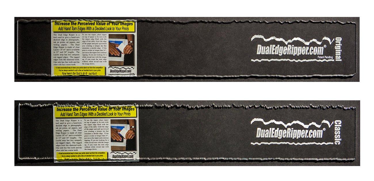 Dual Edge Ripper Original and Classic Bundle Watercolor Paper Deckle Edge Tool 2-24 inch Tools
