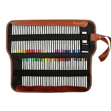 Yosoo Set de Estuche Lápices Coroles para Dibujar Bolsa de Lápices estuche Farbstifte