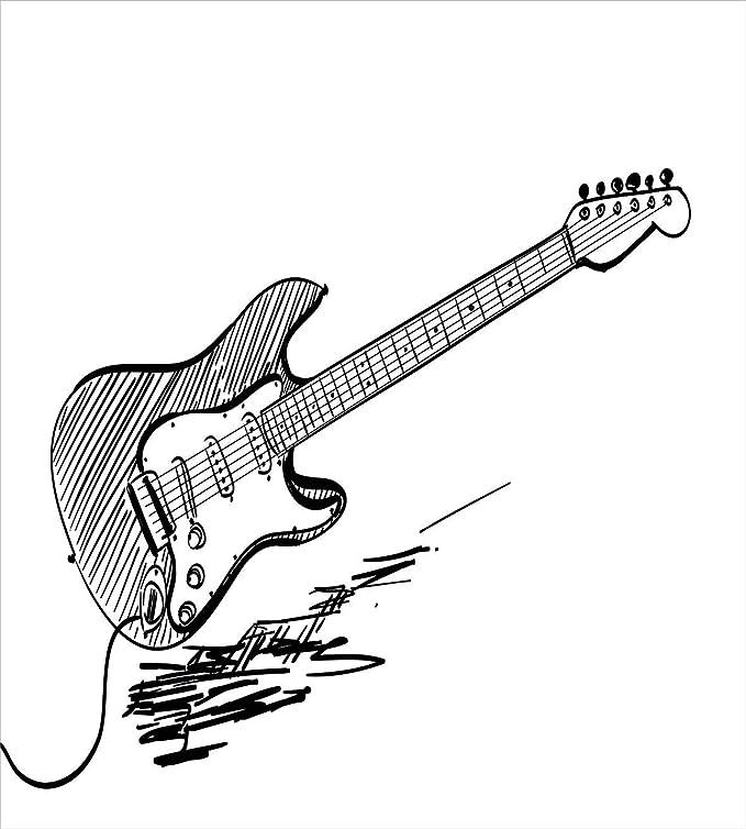 Amazon.com: Twin XL Extra Long Bedding Set,Guitar Duvet Cover Set ...