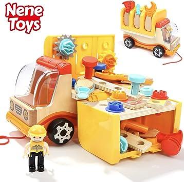 Nene Toys - Camión de Madera con Herramientas de Juguete - Juguete ...