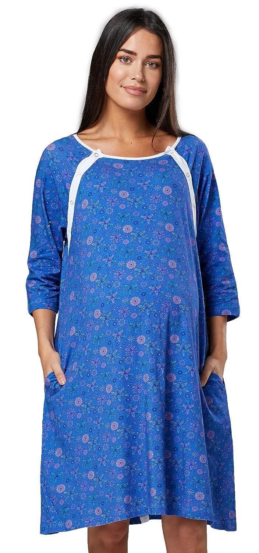 HAPPY MAMA Donna Camicia per Parto Prenatal prémaman Allattamento Ospedale.590p multinightie_590
